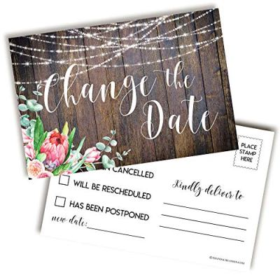 rustic change the date postcards