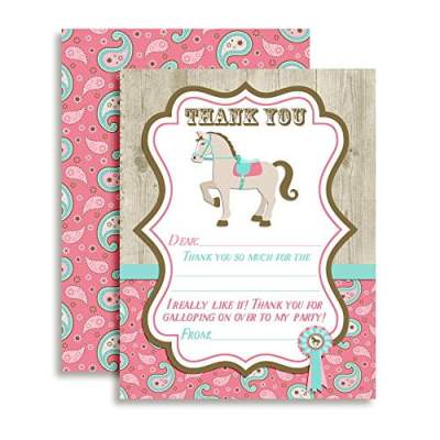 Show Horse Thank You Cards