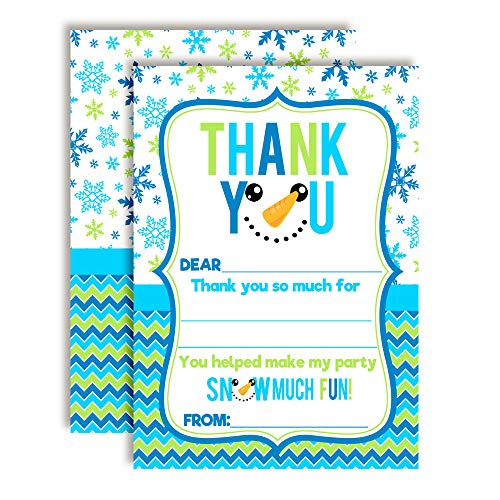 Snowman Face Thank You Cards (Boy)