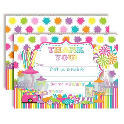Candy Shop Thank You Cards