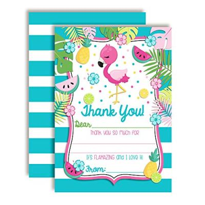 Pink Flamingo Thank You Cards