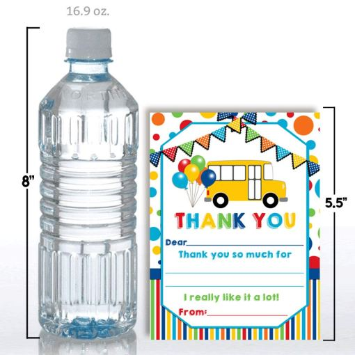 Wheels On The Bus Thank You Cards