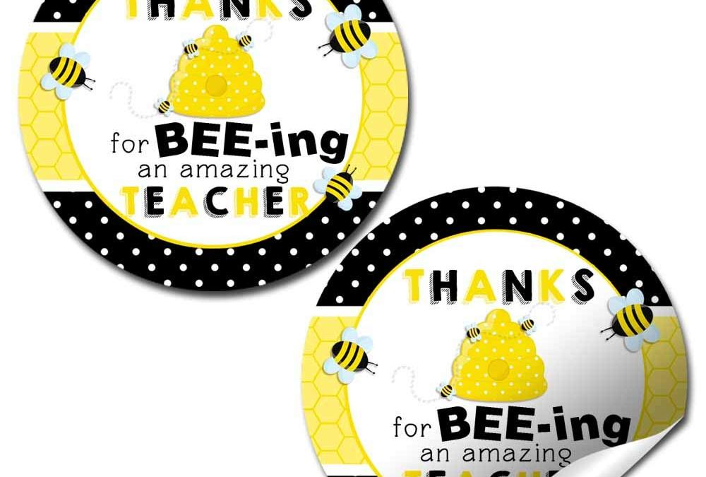 Bumble Bee Teacher Appreciation Stickers