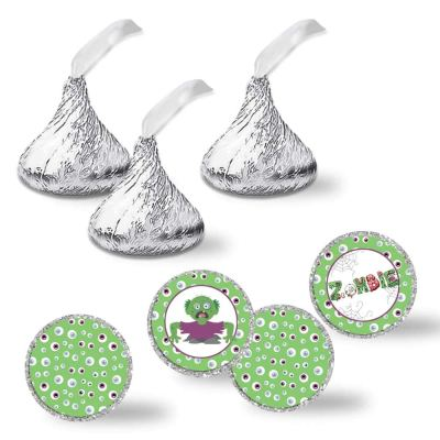 zombie hershey kiss stickers