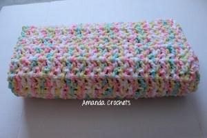 completed bernat baby blanket