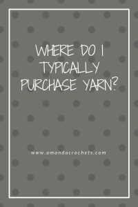 Where Do I Typically Purchase Yarn?