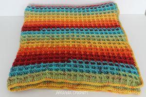 Waffle Stitch Blanket Pattern Amanda Crochets