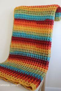 Waffle Stitch Blanket Pattern