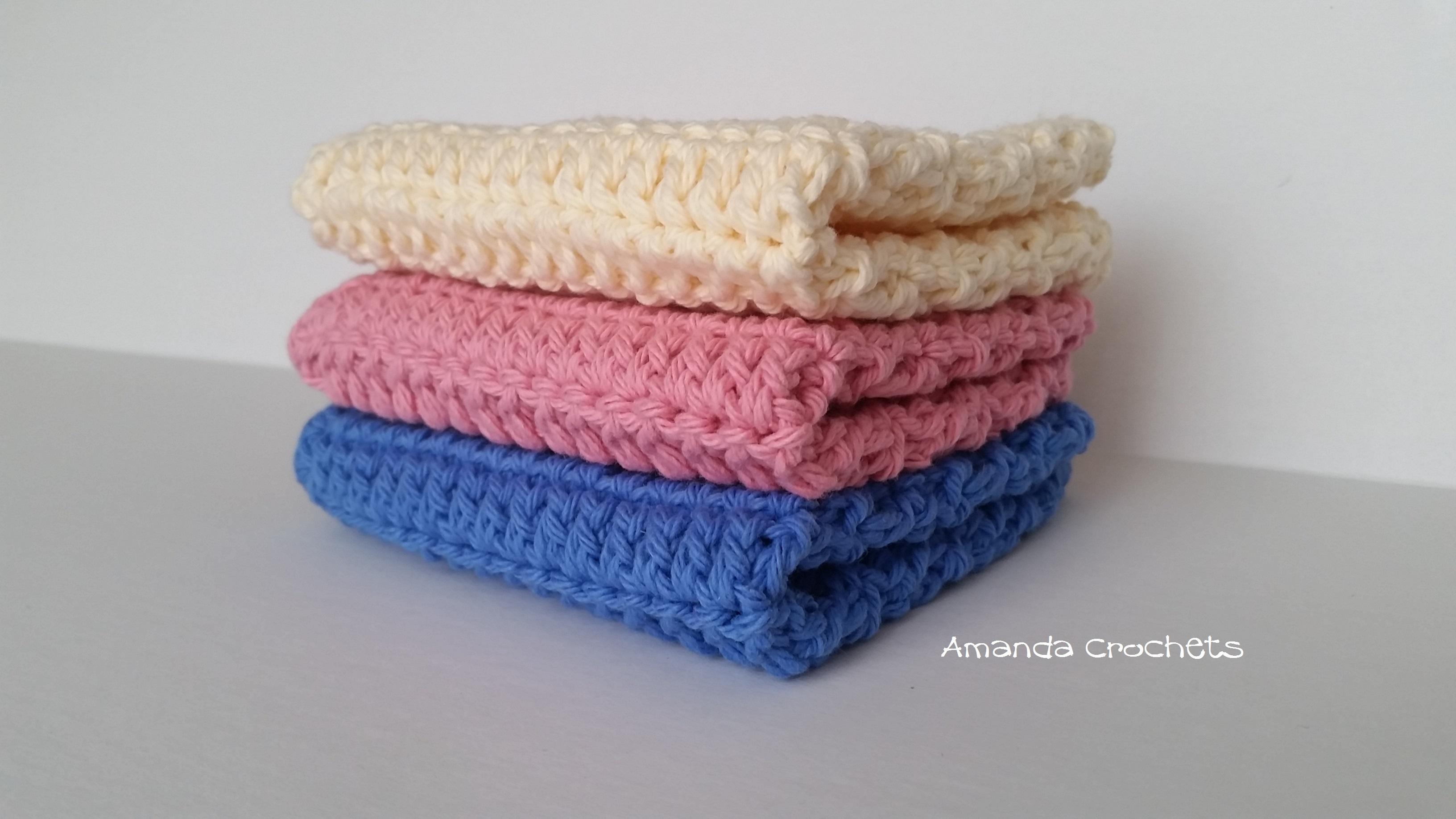 Double Crochet Dishcloth Pattern Amanda Crochets