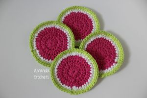 Watermelon Coaster Pattern