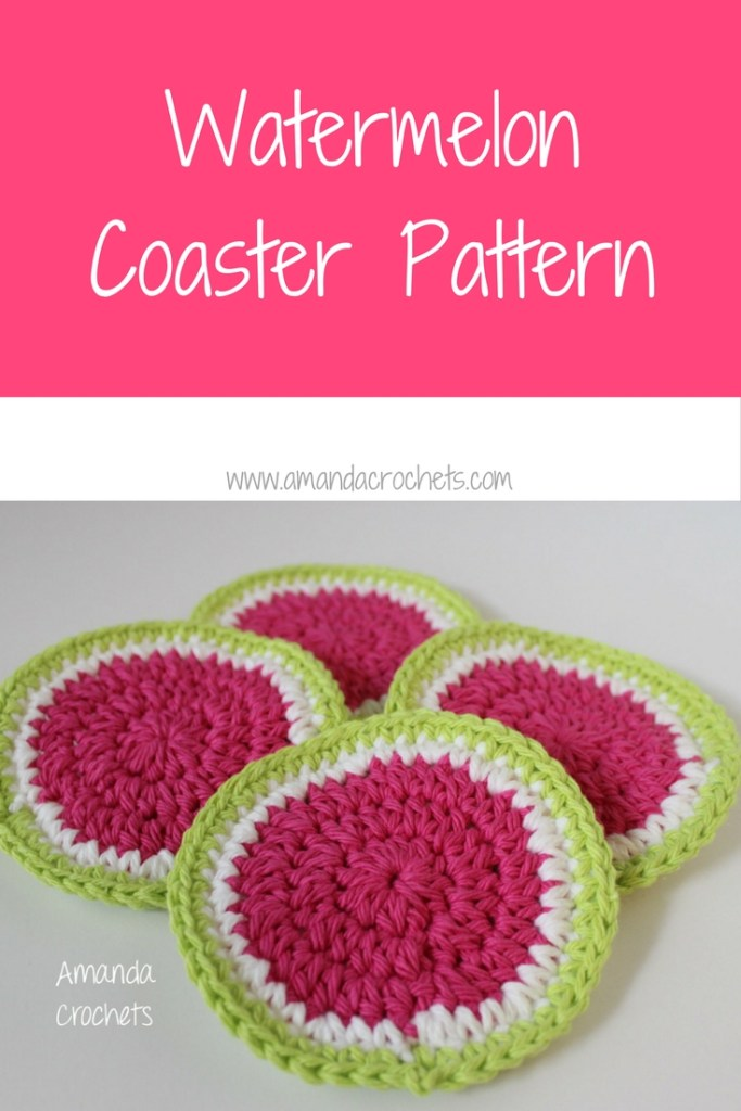 watermelon coaster pattern