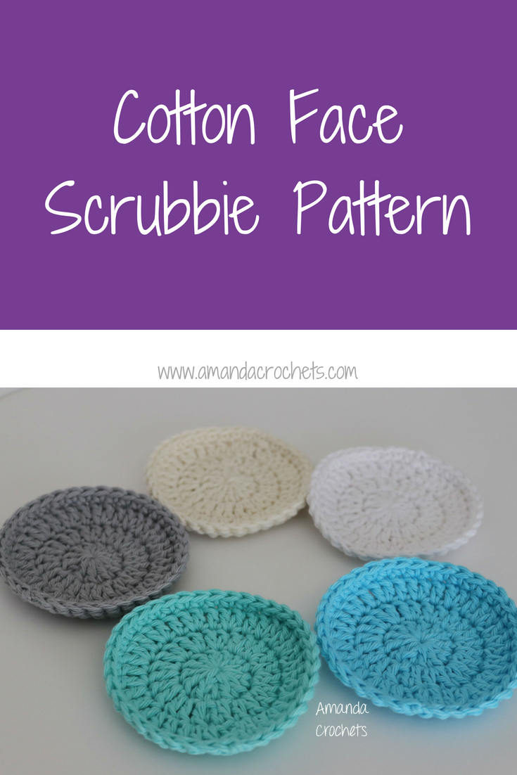 Cotton Face Scrubbie Pattern - Amanda Crochets
