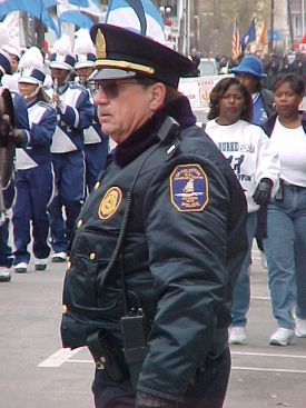 Dad in Uniform Working a Parade