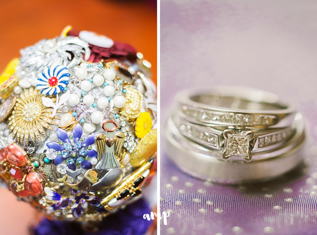 rings and brooch bouquet | grand junction wedding photographer