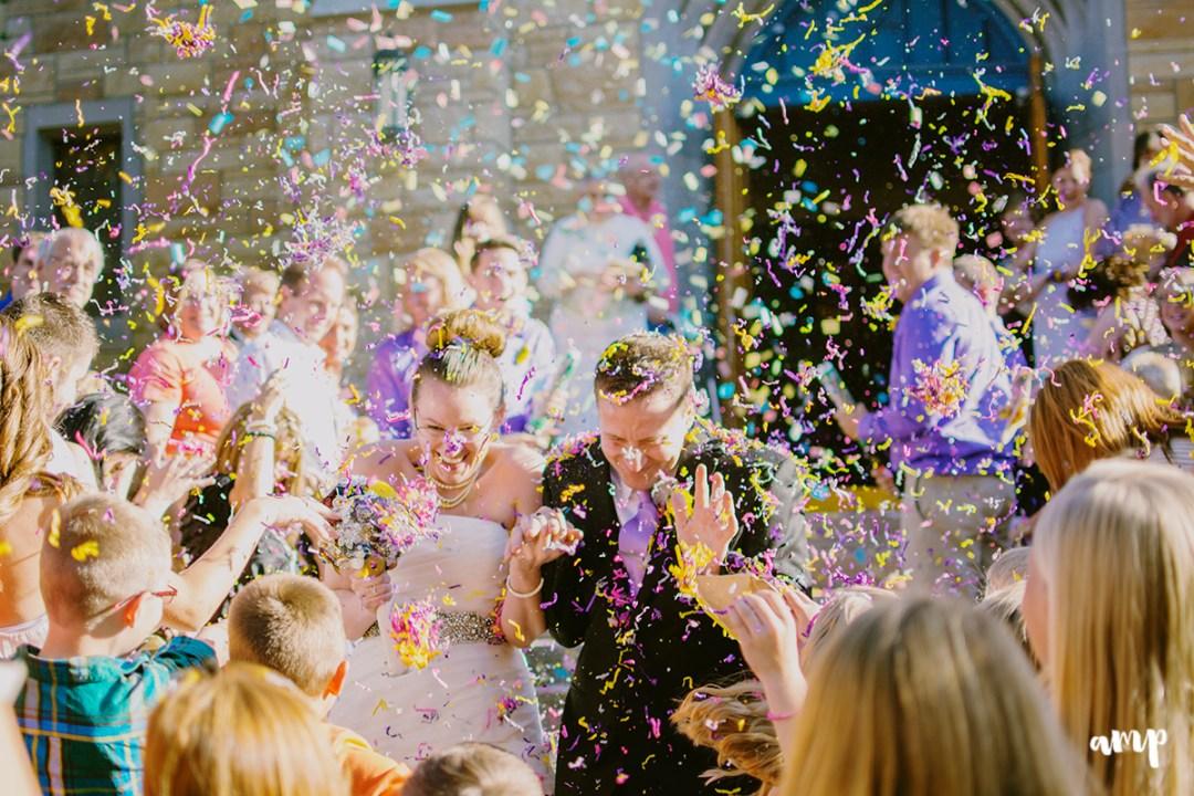 confetti exit | grand junction wedding photographer