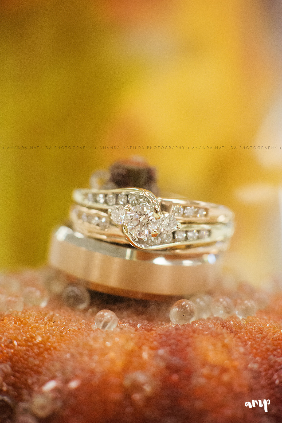Autumn/Fall Wedding Ring detail shot | Grand Junction Wedding Photographer