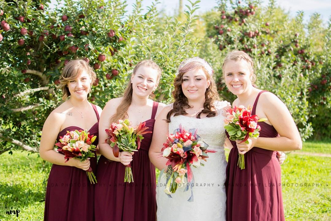Bride & Bridesmaids | Grand Junction Fall Wedding Photographer