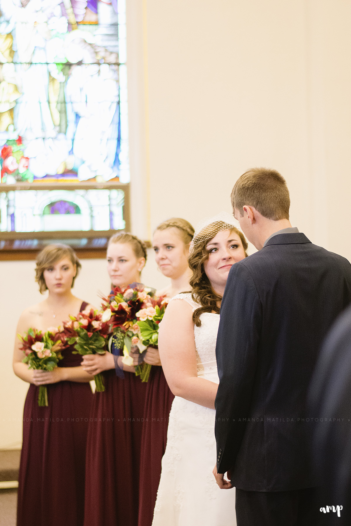 Bride & Groom in Sanctuary | Grand Junction Wedding Photographer
