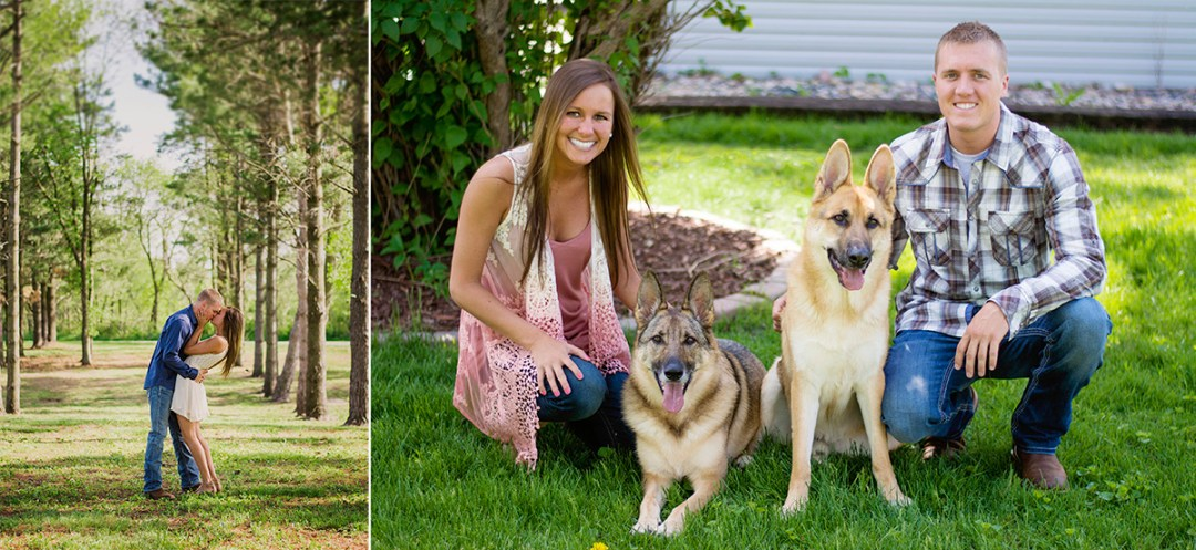 german shepherd engagement session | grand junction colorado
