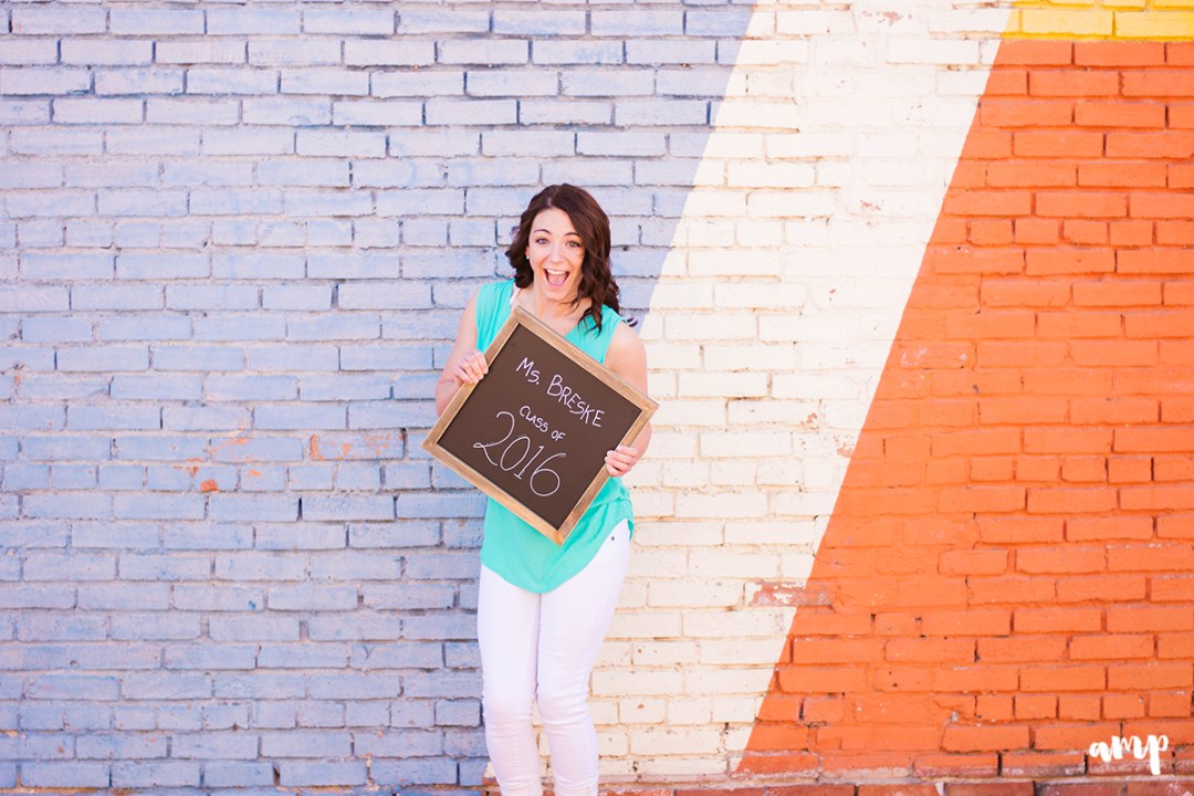 Teacher themed senior photos   downtown Grand Junction Colorado senior photos