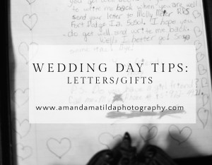 wedding day love letters | vail wedding photographer