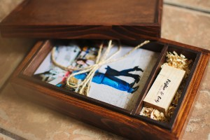 Handcrafted Wood Photo Box | Grand Junction Wedding Photographer
