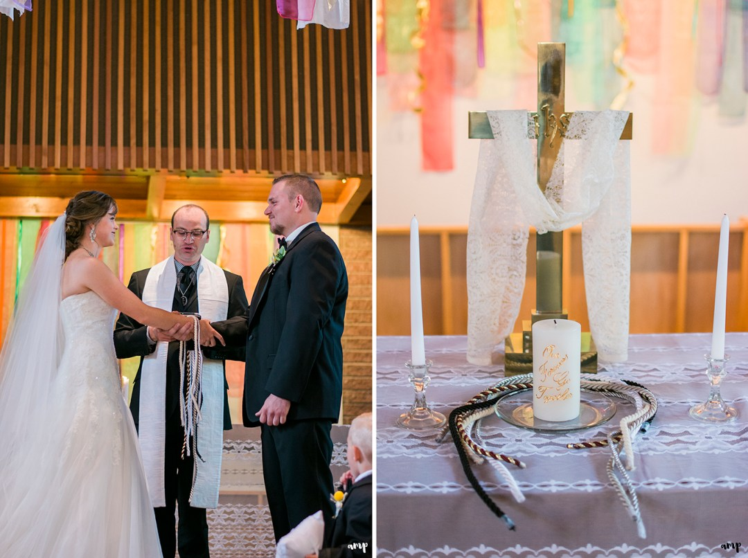 Wedding handfasting ceremony