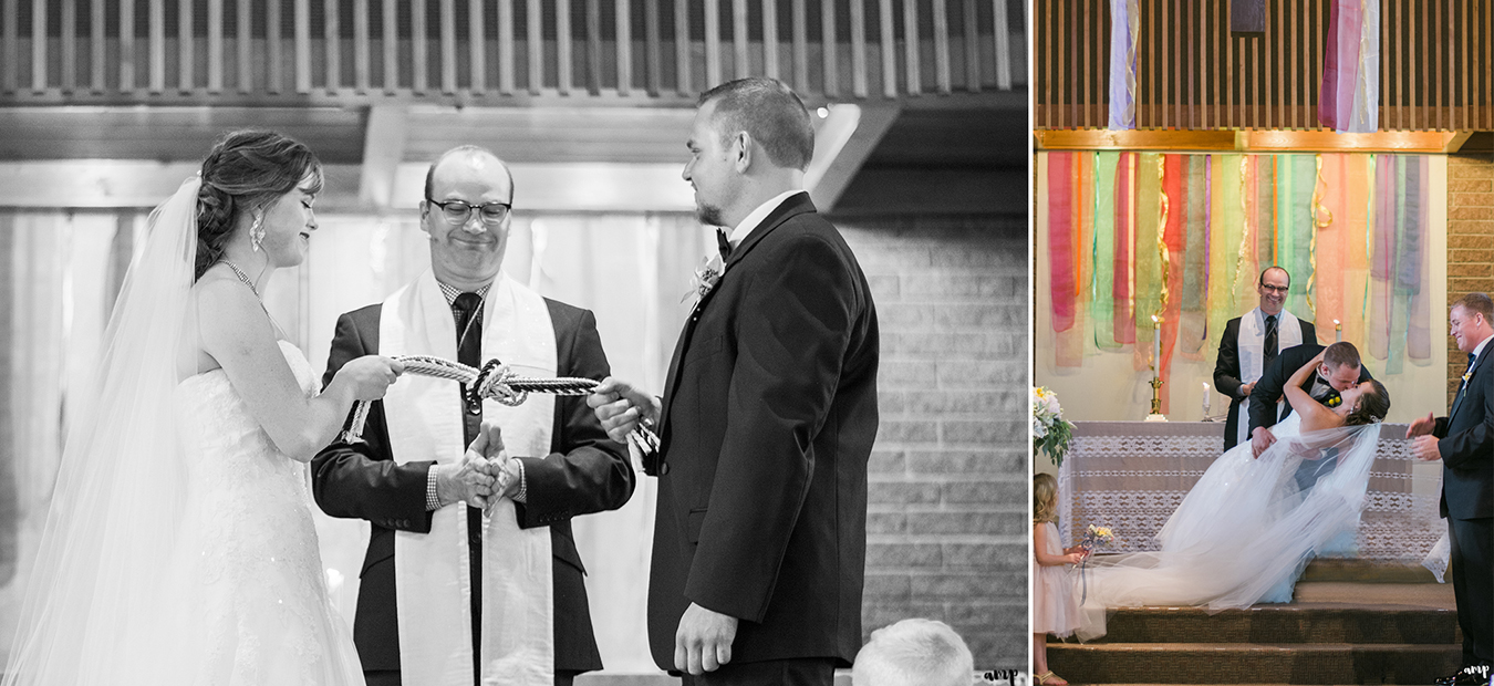 Handfasting ceremony to tie the knot