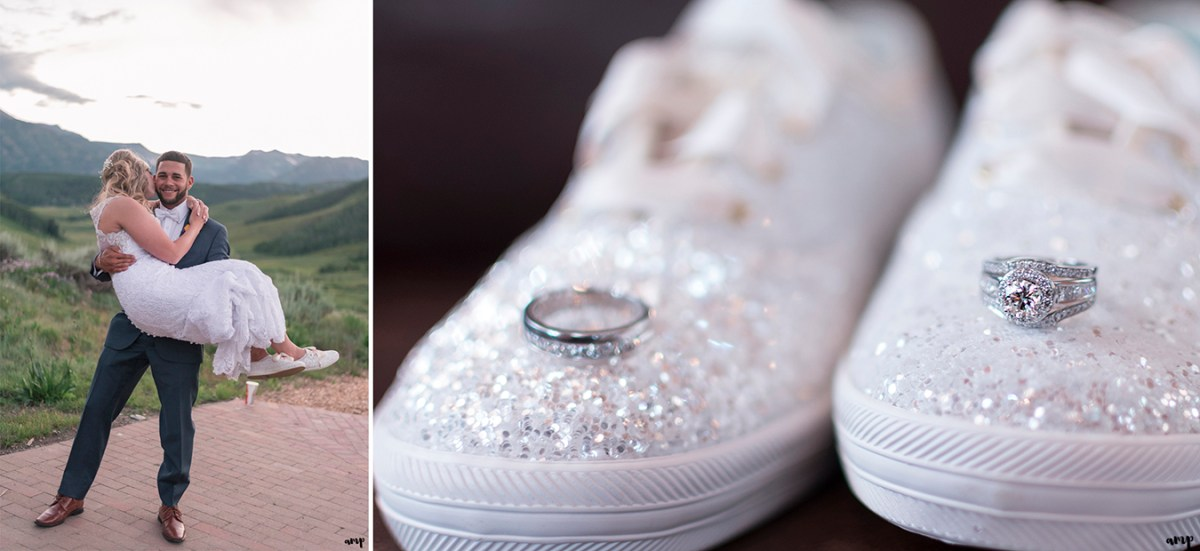 Kate Spade wedding Keds with rings