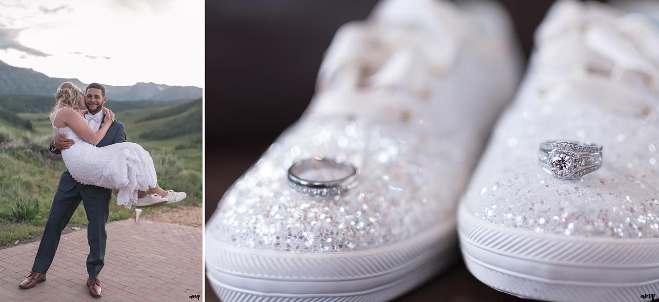 Kate Spade wedding Keds with rings