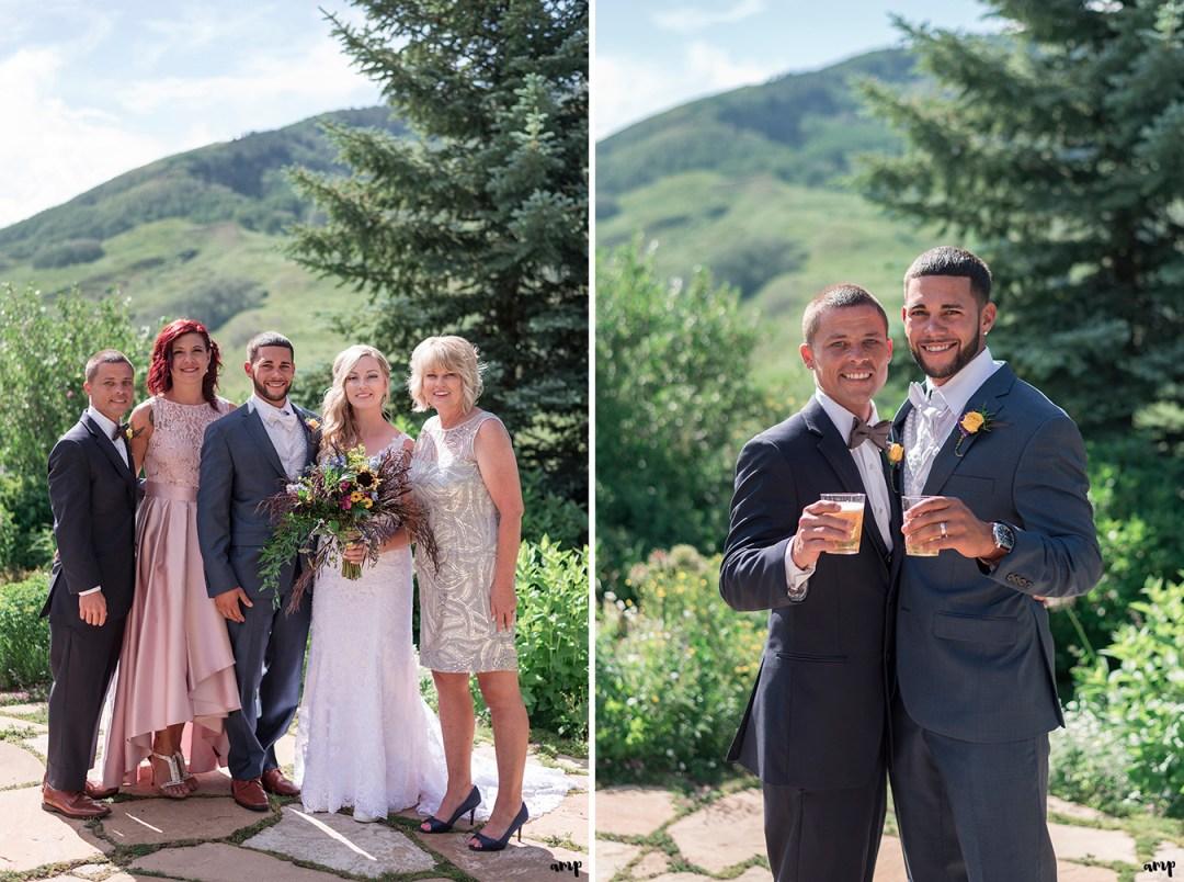Family photos at the Crested Butte Mountain Wedding Garden