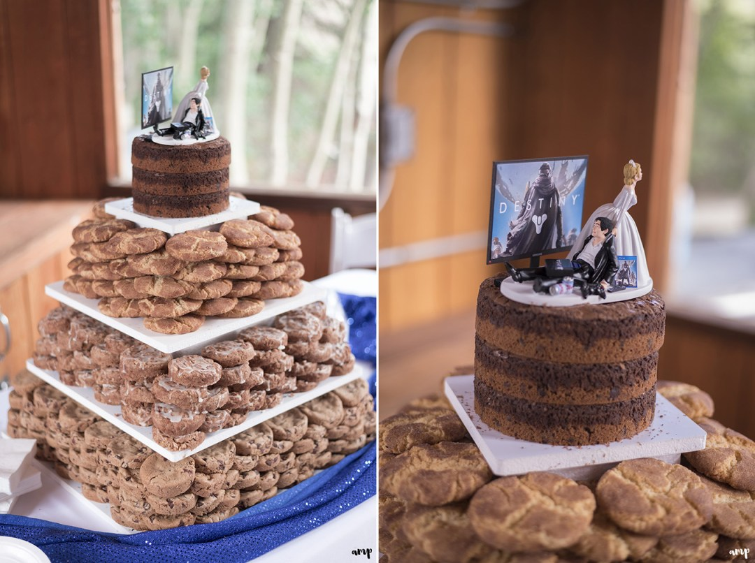 Cookie cake and wedding dessert table