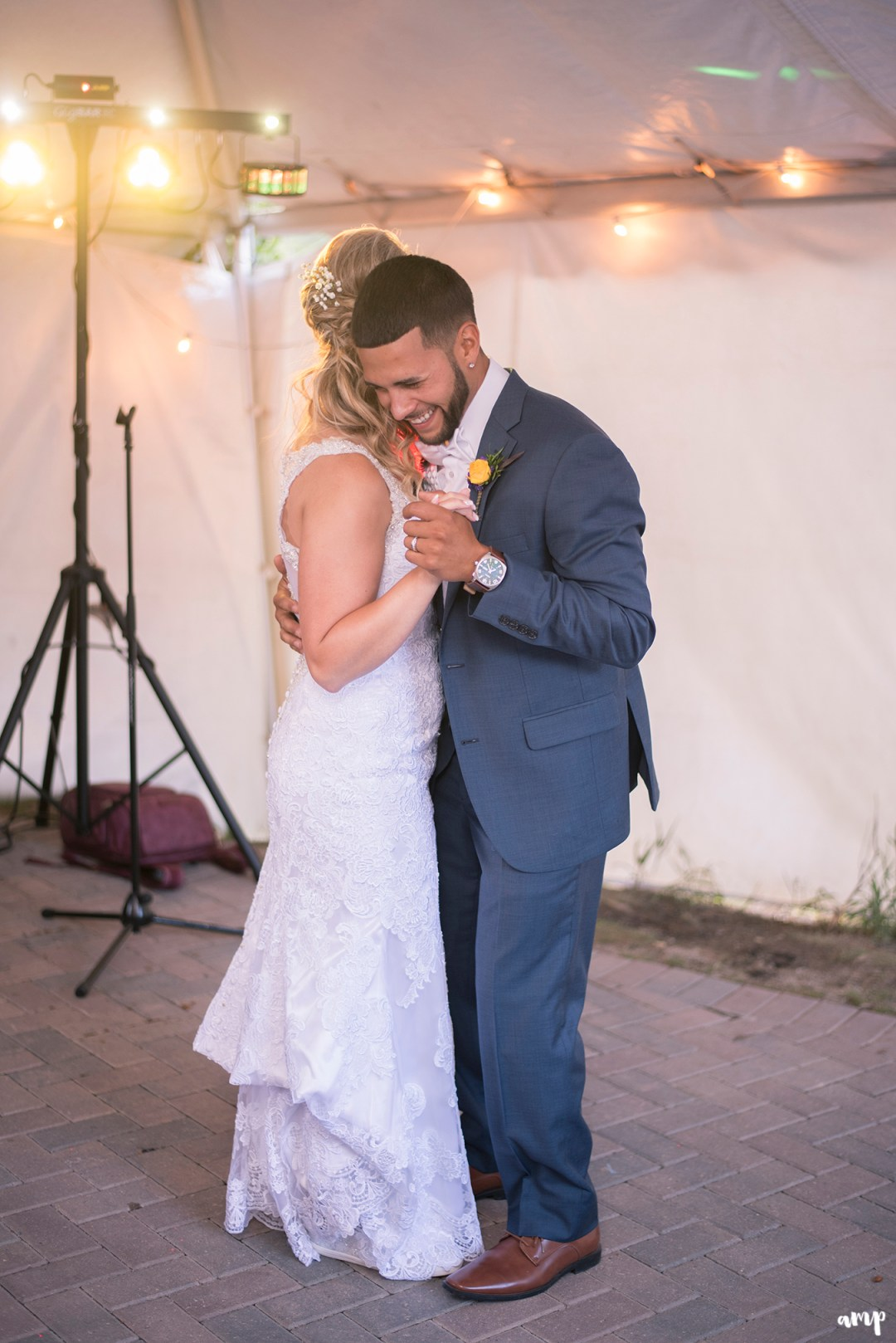 Bride & Groom's first dance at the Crested Butte Mountain Wedding Garden