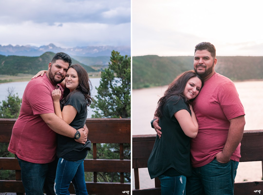 Engagement photos at the Ridgway state park overlook