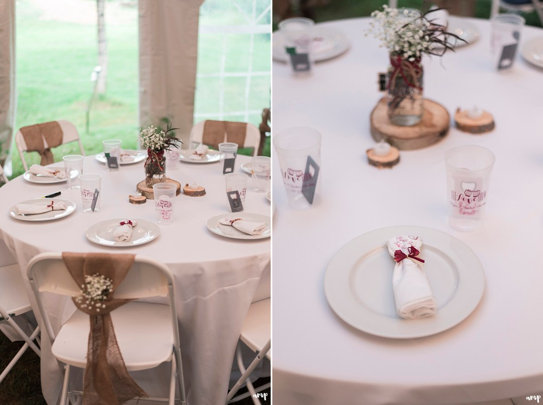 Table setting for Gunnison wedding reception