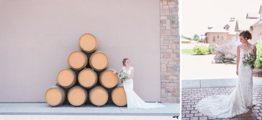 Bridal portraits at Two Rivers Winery