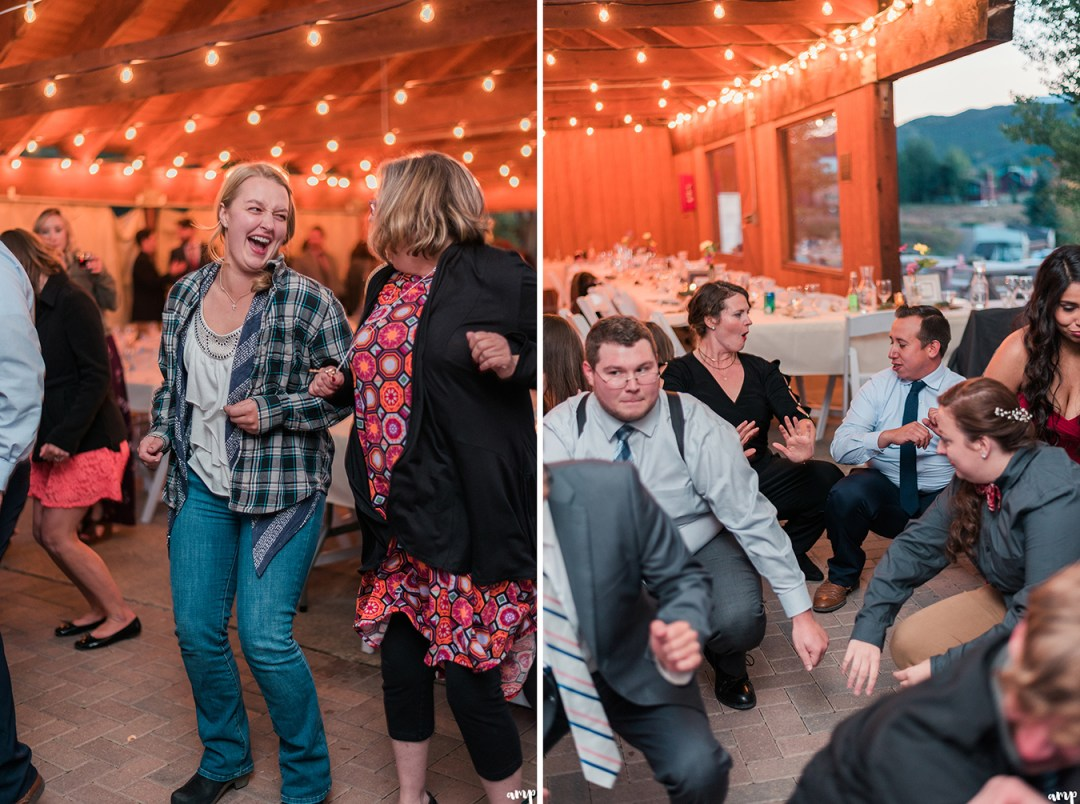 Wedding reception at the mountain wedding garden in crested butte