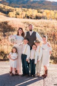 Full blended family photo