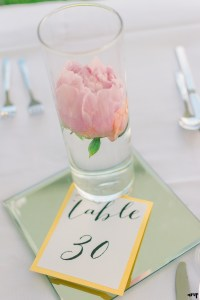 Pink peony table setting