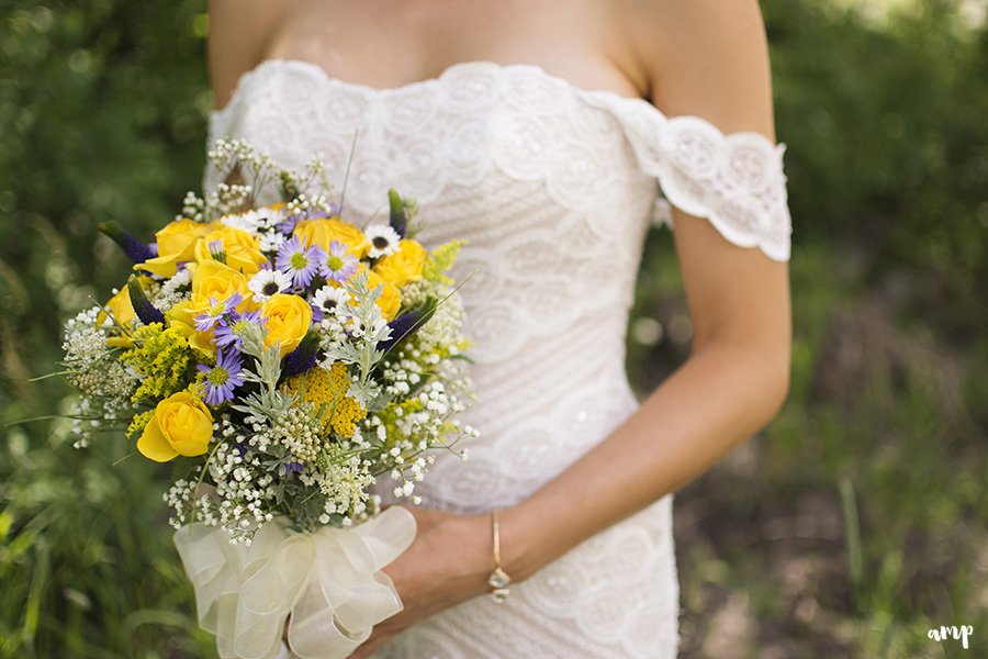 Wildflower Bouquet at Powderhorn Wedding