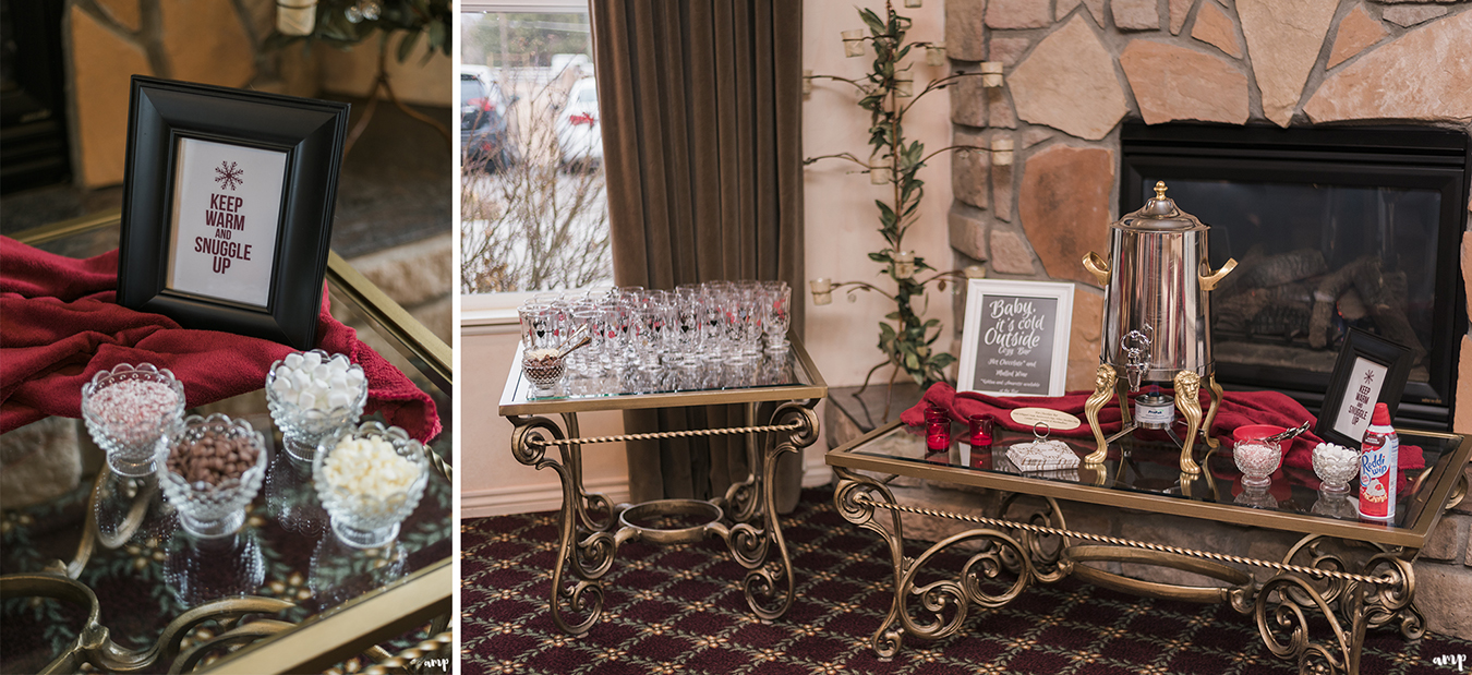 Hot cocoa and mulled wine bar by R&R Events at Two Rivers Winery