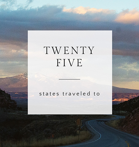 By the Numbers: 25 states traveled to | amanda.matilda.photography