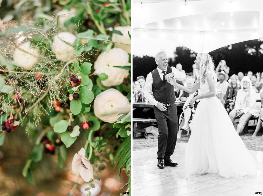 Father - Daughter dance | Grand Junction Backyard Wedding | amanda.matilda.photography