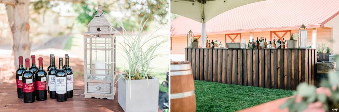 Bar area | Grand Junction Backyard Wedding | amanda.matilda.photography