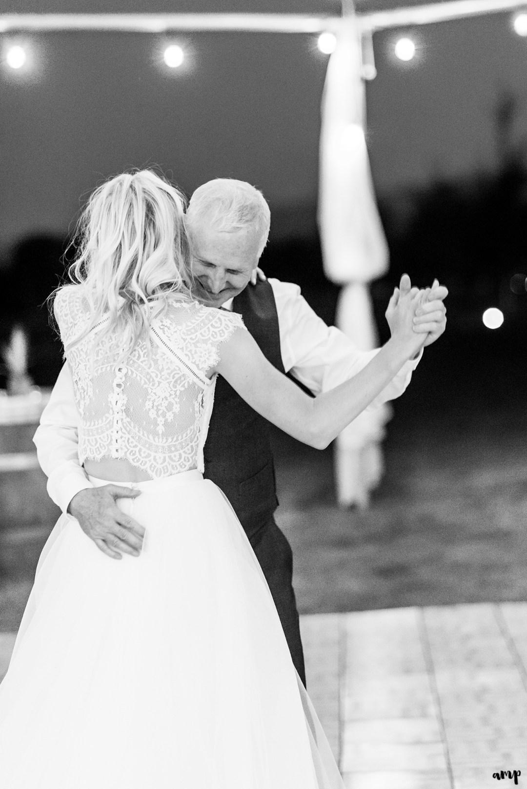 Father-daughter dance | Grand Junction Backyard Wedding | amanda.matilda.photography