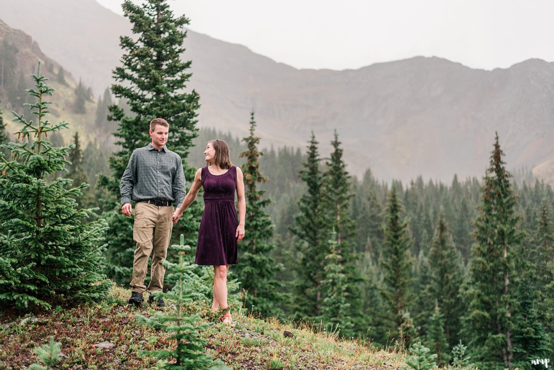 Dayton & Chelse's Telluride Engagement Session at Alta Lakes | amanda.matilda.photography
