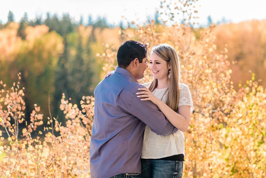 Uriel & Paige's Fall Engagement at Mesa Lakes | amanda.matilda.photography