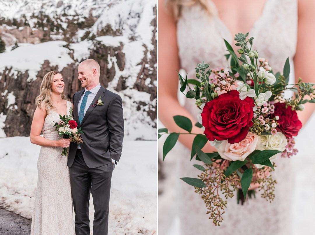 John & Lisa's Winter Elopement in Ouray | Amanda Matilda Photography