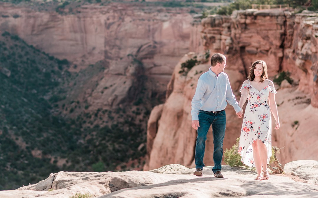 Alec & Emily | Spring Engagement Photos on the Colorado National Monument