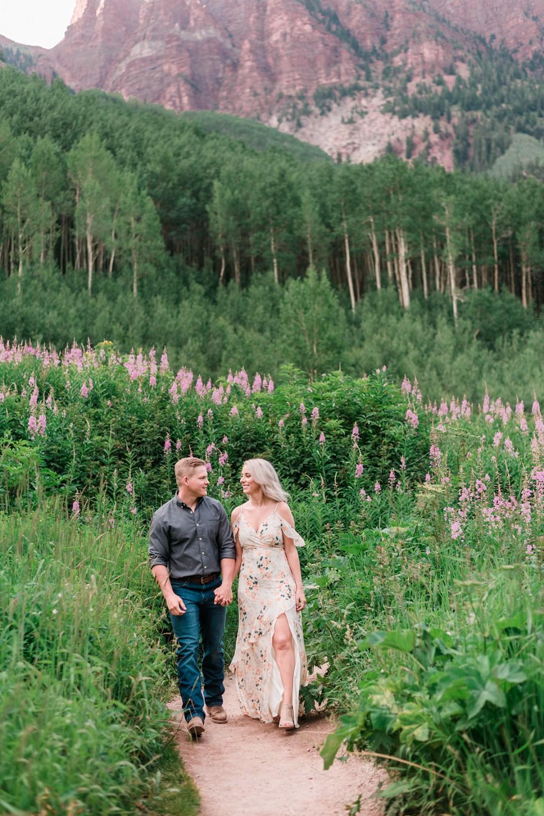 Tyler & Taylor   Aspen Engagement Photos at Maroon Bells